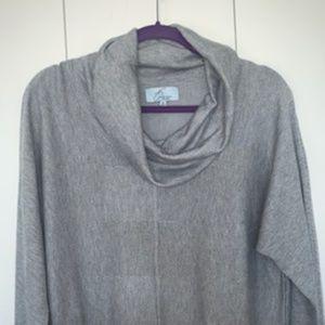 Super Cozy Joan Vass XL Cowl Neck Sweater